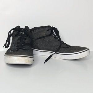 (2for20)Vans Lace Up Dark Gray Youth 7 Sneakers